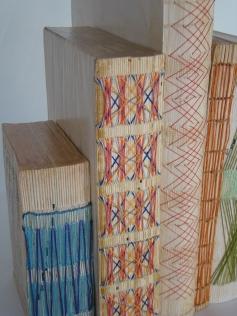Books (6 pieces) 2015 Libros, seda, nylon, algodón 26,6 x 26.6 cm (10.5 x 10.5 in)