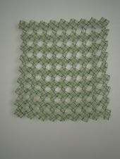 Cebollin 2014 Cinta de organza ensamblada con nylon 53 x 53 cm (20.9 x 20.9 in)