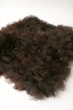 Chica de humo 2007 Cinta de organza ensamblada con hilo de algodón 5 x 120 x 120 cm (2 x 47.2 x 47.2 in)