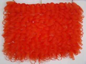 Clementina 2014 Cinta de organza ensamblada con balines de nylon 75 x 72 x 10 cm (29.5 x 28.3 x 3.9 in)