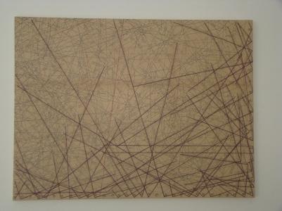 Corner 2015 Papel, viesoflix, nylon y algodón montado sobre entamborado de MDF y madera de pino 48 x 62 cm (18.9 x 24.4 in)