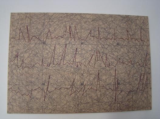 Electro 2015 Papel, viesoflix, nylon y algodón montado sobre entamborado de MDF y madera de pino 56 x 81 cm (22 x 31.9 in)