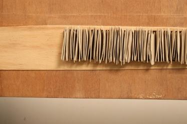 Extrusión 3. Archivo 2007 Madera contraenchapada tallada y arcilla modelada ensambladas con cola 22 x 150 x 10 cm (8.7 x 59.1 x 3.9 in) c/u