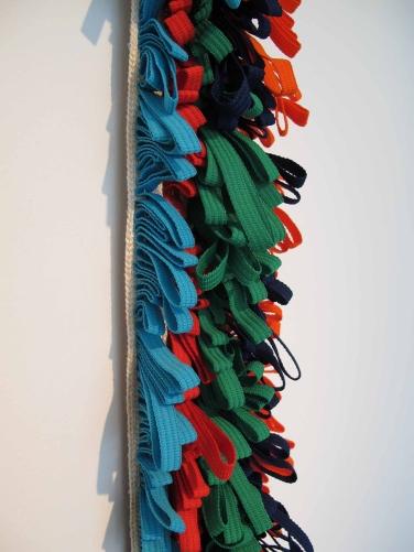 Mecha 2014 Cintas de nylon y algodón ensambladas con nylon 259 x 11 x 4 cm (102 x 4.3 x 1.6 in)